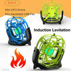 Mini Drone Quad Induction Levitation UFO 2-IN-1 Handheld USB Fan【 New Upgrade 】
