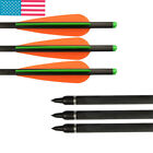 16/18/20/22inch Crossbow Bolts Carbon Arrow With Plastic Vanes For Shooting