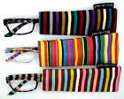 Eyeglasses from Reading Trendy Goodlookers Multi Striped with Scabbard