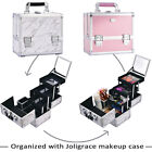 Professional Vanity Make Up Beauty Box Cosmetic Nail Storage Case With Mirror