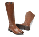 NIB Born Women's North Leather Boots in Brown Luggage