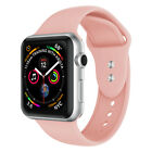 For Apple Watch Series 5/4/3/2/1 38/40/42/44mm Soft Sports Silicone Strap Band