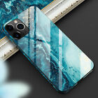 Shockproof Marble Tempered Glass Case Cover For iPhone 11 12 Pro Max XS XR 7 8