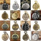 Vintage Steampunk Pocket Watch Full Hunter Pendant Retro Chain Best Family Gift image