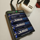 JUGEE AA 3000mWh 2000mah 1.5V rechargeable Lithium li-ion AA battery and charger
