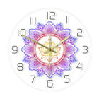 Mandala with Lotus Flower Modern Wall Clock OM Studio Bohemian Psychedelic Watch