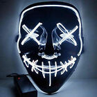 LED Light Mask Up Party Mask The Purge Election Year Party Cosplay Halloween