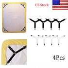 4Pcs Elastic Bed Sheet Fixed Grippers Clip Holder Fasteners Anti-slip Buckle US image