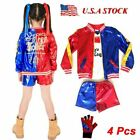 Girls Halloween Costumes Harley Quinn Cosplay Suicide Squad for Kids