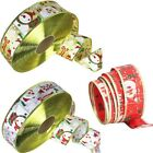 5cm Grosgrain Snowman Ribbon For Christmas Gift Wrapping Card Making Craft Lldty