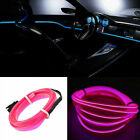 UK Neon LED Light Glow EL Wire String Rope Tube Car Xmas Lights Battery Operated