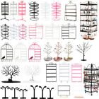 128/144 Holes Rotating Earring Ring Display Jewelry Rack Holder Metal Stand
