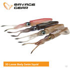 Savage Gear 3D Loose Body Swim Squid Lures - Cod Bass Snapper Sea Fishing Tackle