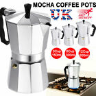 Coffee Maker Percolator Moka Pot Stove Top Italian Style Espresso Bean 3/6/12Cup