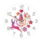 Merry Christmas Watercolor Deer Painting PrintWall Clock Holiday New Year Watch