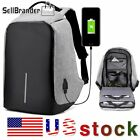 Unisex Anti Theft Backpack Laptop Travel School Bag With USB Charging Port