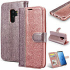 Sparkly Diamond Leather Wallet Flip Case Phone Cover for Samsung S9 Note9 S8 S10