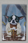 "Boston Terrier & Pug Star Wars Theme Magnet by Brian Rubenacker, Size. app.3""x2"""
