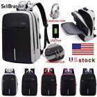 Mens Womens Digit Anti-Theft Lock USB Charging Laptop Backpack Travel School Bag image