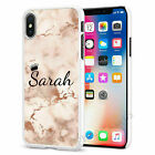 Personalised Marble Phone Case Cover for Apple iPhone Initial Text Name 020-6