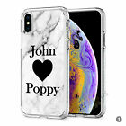 Initials Phone Case Personalised Marble Hard Cover For Apple iphone 8 X 11 046-1