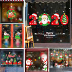 Waterproof Christmas Glass Tile Wall Stickers Home Background Mural DIY Decor