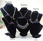 Velvet Necklace Pendant Chain Jewelry Bust Display Holder Stand Brand VKH