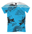 Skeletons of fish t-shirt bright tee all over print skull bones underwater world