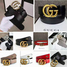 "Luxury Women Leather G-Style Belts ""G"" Logo Pattern For Jeans Gold Buckle Belt"