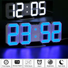 Digital LED Large 3D Table Wall Clock Dimmer Alarm Snooze Home Decor USB Modern
