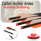 """6/12Pcs 20"""" Arrows Archery Carbon Arrows Target Tips For Adult Hunting Practice"""