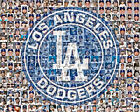 LA Dodgers Photo Mosaic Print Art Featuring over 100 Dodger Players