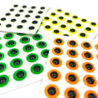 FLUORESCENT FISH EYES - 3D Domed Adhesive Fly Tying, Fishing Lure, Stick-On Neon