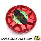 RED FCR 1/4 Quick Lock Gas Fuel Cap For Triumph Tiger 800 / XC 10 11 12 13 $55.8 USD on eBay