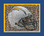 San Diego Chargers Mosaic Print Art Designed Using over 100 of the Greatest Char $40.0 USD on eBay