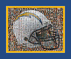 San Diego Chargers Mosaic Print Art Using over 100 of the Greatest Players $40.0 USD on eBay