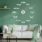 Angel Bird Wings With Number Modern DIY Large Wall Clock Nursery Kid Watch