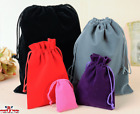 Luxury Soft Velvet Pouches Bag Jewellery Drawstring Wedding Party Gift 3 Sizes