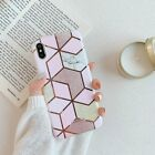 Geometric Marble Cases For i Phone 11 Pro Max XR XS Max 7 8 Plus X Soft Cover