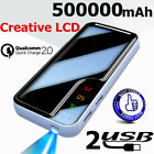 500000mAh LCD LED Battery Charger Portable Power Bank for Smart Phone
