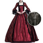Womens Medieval Vintage Renaissance Long Maxi Dress Bell Sleeve Cosplay Costume