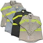 Bulwark Flame Resistant Reflective Shirt Enhanced Visibility FR Work Uniform