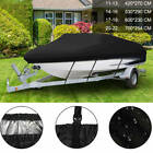 Heavy+Duty+210D+Ski+Boat+Cover+Fishing+Bass+V%2DHull+Trailerable+Runabout+5+Size