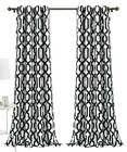 Window Curtain Panel in White and Black - Set of 2 [ID 3942577]