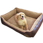 Waterproof Leather Dog Bed Washable Padded Warm Pet Puppy Cushion For Large Dogs