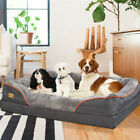 Orthopedic Dog Bed Lounge Sofa X-Large Thicken Foam Faux Fur Waterproof Mattress