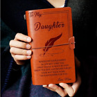 6 Types To My Daughter From Dad Mom Engraved Leather Journal Notebook Diary Gift
