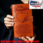 6 Types To My Daughter From Dad Mom Engraved Leather Journal Notebook Diary A6