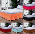 Bedding Elastic Band Bed Apron Pleated Bed Skirt Single Double Dust Bedskirt image