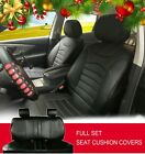 Black PU Leather Car Seat Covers Cushion Set Front/Rear SUV Truck Bucket 8209 $84.95 USD on eBay